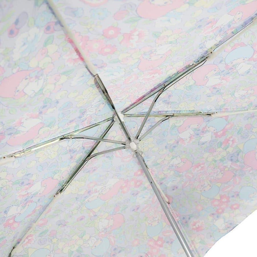 リトルツインスターズ キキララ 折りたたみ傘 フラワー&フルーツ サンリオ 折り畳み傘 グッズ 新商品 子ども 女の子 カサ かさプレゼント かわいい 雑貨 雨 4