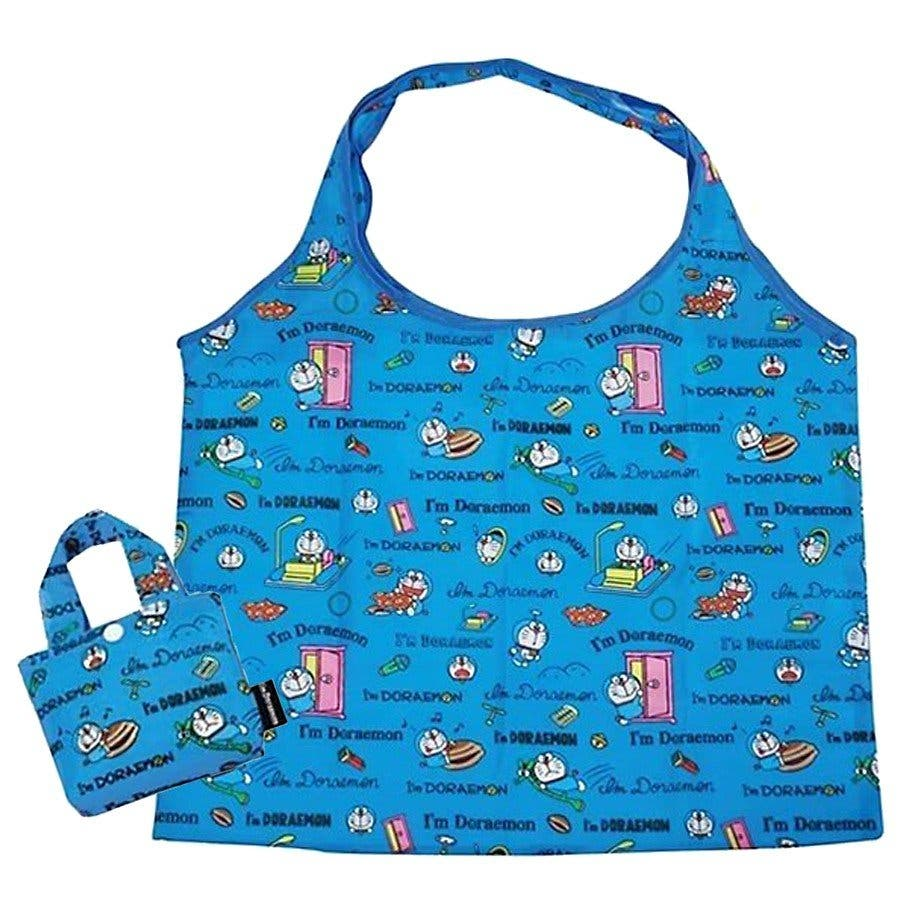 ドラえもん ブルー エコバッグ ディズニー おしゃれ 折り畳み キャラクター 収納バッグ ミニ 可愛い 買い物バッグ ブランドお出かけ 旅行 レジャー 衛生 1