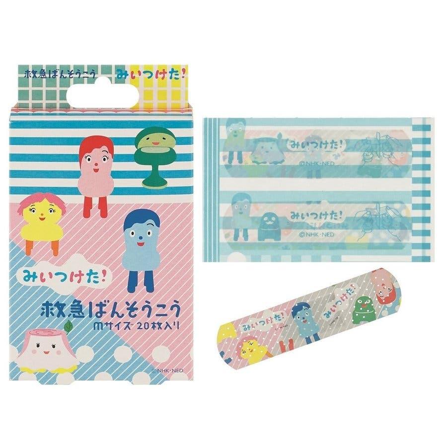みいつけた グッズ 絆創膏 20枚入 バンソウコウ Mサイズ 緊急ばんそうこう 子供 雑貨 日本製 バンドエイド キャラクターおもしろ 衛生 1
