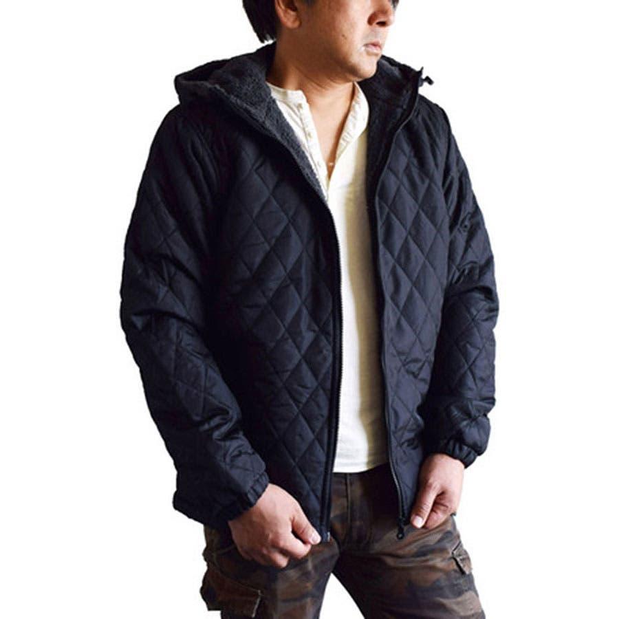 これからの時期にはイイと思う! メンズファッション通販ジャケット メンズ アウター 中綿ジャケット パーカー ブルゾン ボア カモフラ キルト キルティング 迷彩 裏ボア カモフラージュレッド カーキ ネイビー ブラック メンズファッション 春 王位