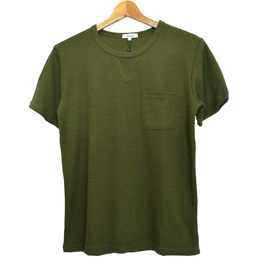 どんなコーデに も使える 半袖Tシャツ カットソー Tシャツ クルーネック 丸首 無地 半袖 ワッフル ポケット付き メンズ ホワイト ネイビー オリーブブラック グレー メンズ トップス 秋冬 剛健
