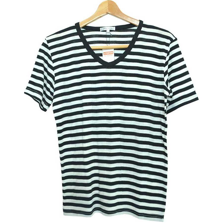 半袖Tシャツ カットソー Tシャツ Vネック ボーダー柄 半袖 メンズ ネイビー ブラック グレー メンズ トップス 1