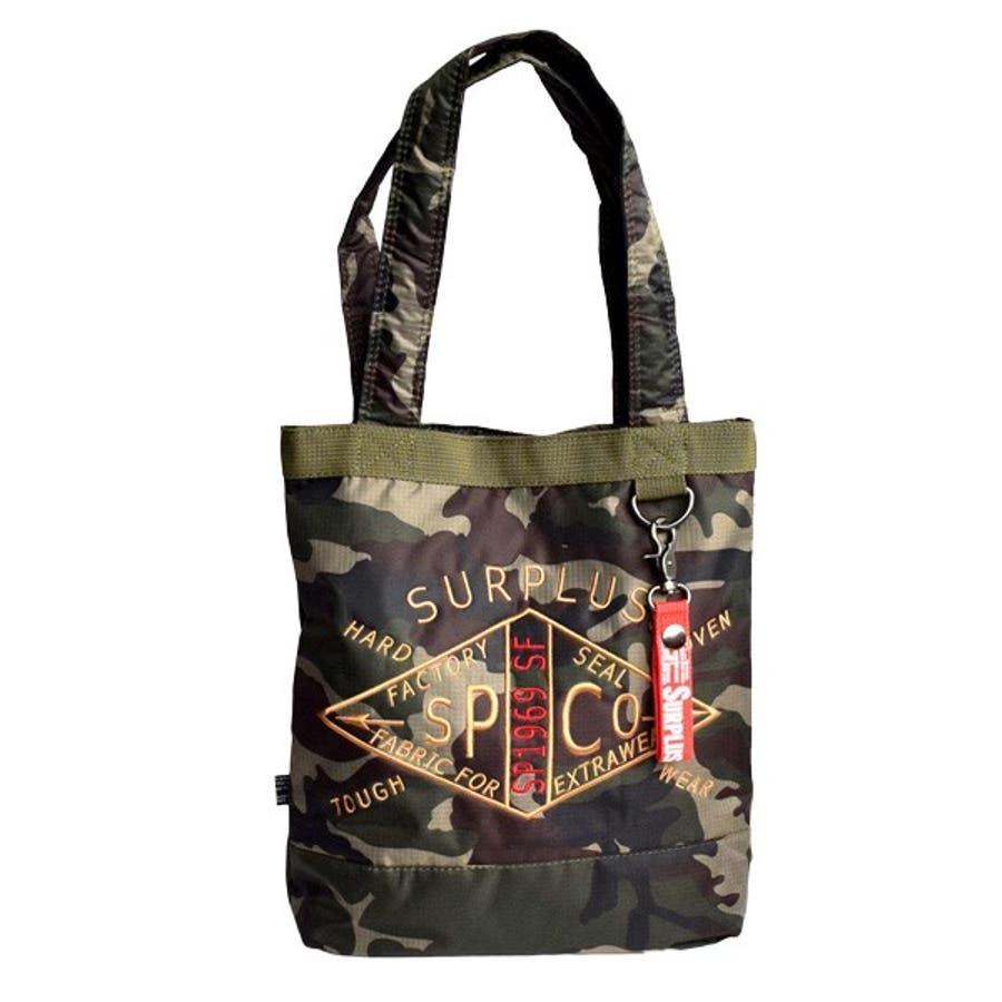 トートバッグ ミニショルダー 2way ミリタリー 刺繍 アメカジ バッグ 鞄 小物 メンズ カーキ ブラック カモフラ 春先行 5