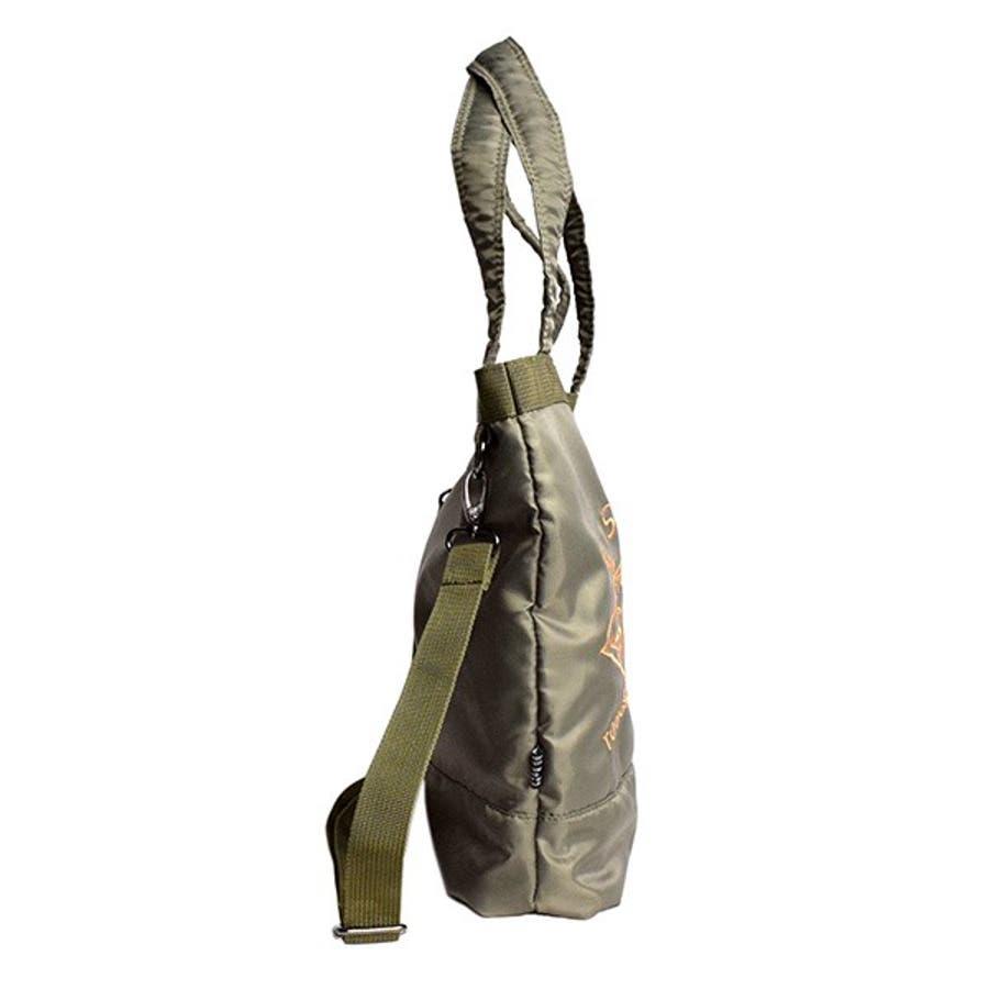 トートバッグ ミニショルダー 2way ミリタリー 刺繍 アメカジ バッグ 鞄 小物 メンズ カーキ ブラック カモフラ 春先行 7