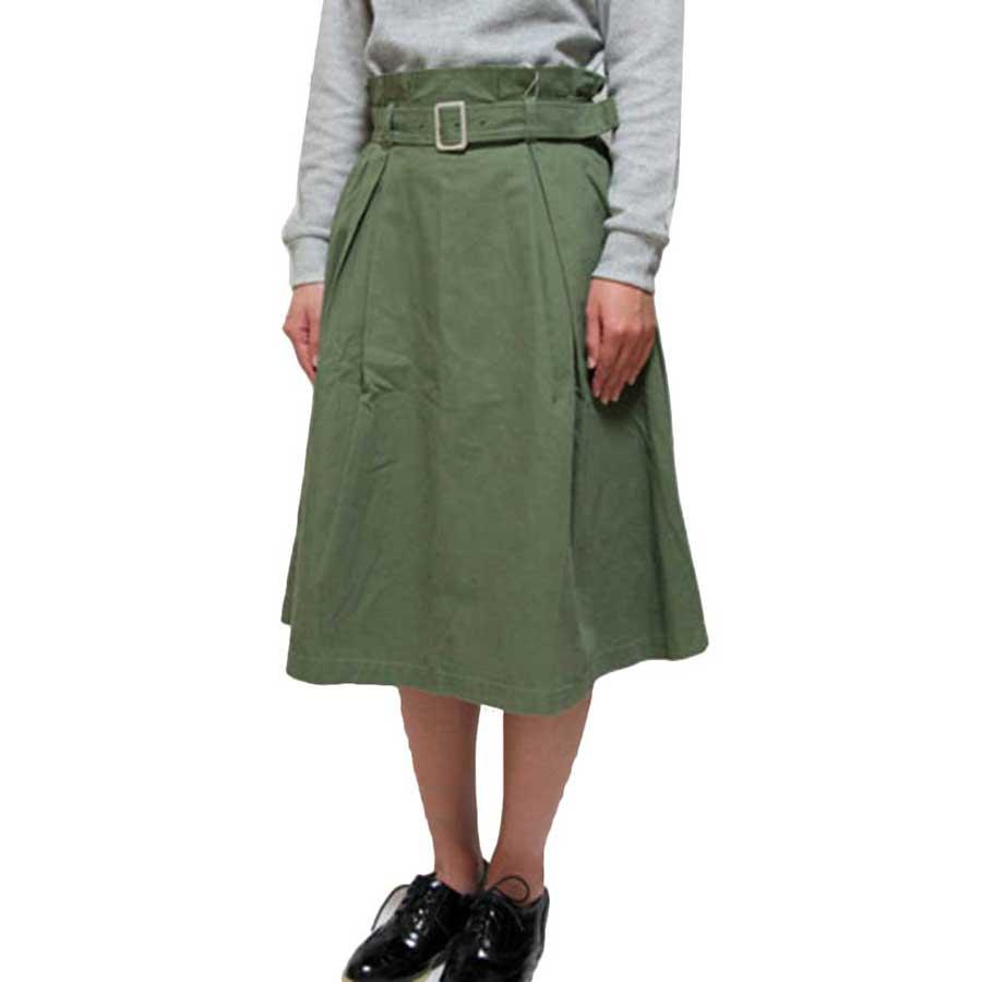 愛用してます フレアスカート スカート ハイウエスト ミモレ丈 ベルト付き 無地 レディース ホワイト ベージュ カーキ ネイビー 愚考