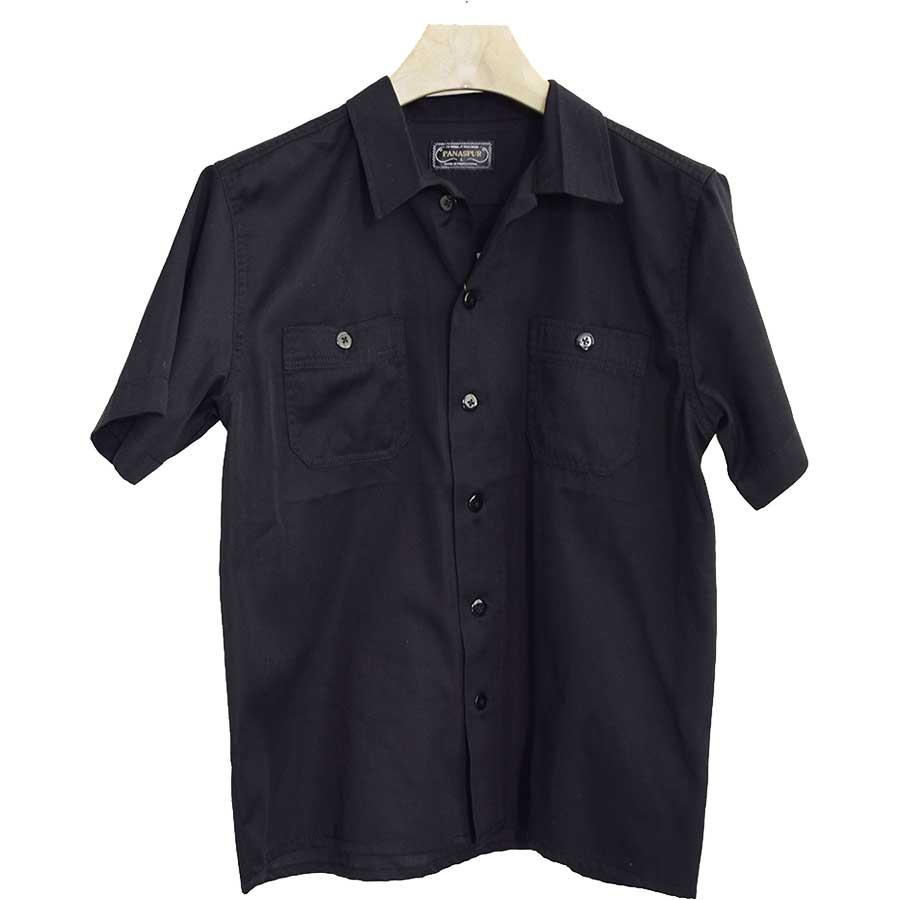 着回しがしやすい メンズファッション通販シャツ 半袖シャツ ツイル 刺繍 ロゴ ミリタリーシャツ ボーリングシャツ メンズ ホワイト カーキ ネイビー ブラック メンズ 夏 連合