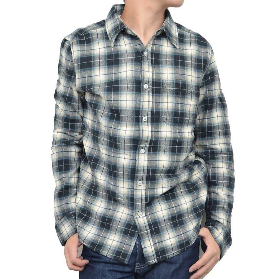 着心地が良く使える メンズファッション通販ネルシャツ チェックシャツ 長袖 先染め カラーシャツ メンズファッション メンズ 夏 獄舎