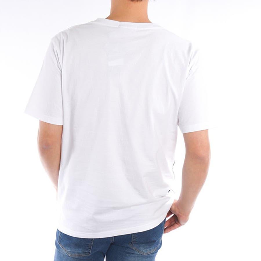 Tシャツ カットソー 半袖 クルーネック 丸首 ビッグTシャツ ビッグシルエット オーバーサイズ ロゴ 綿 コットン100% トップスメンズ ブラック ホワイト 春先行 6