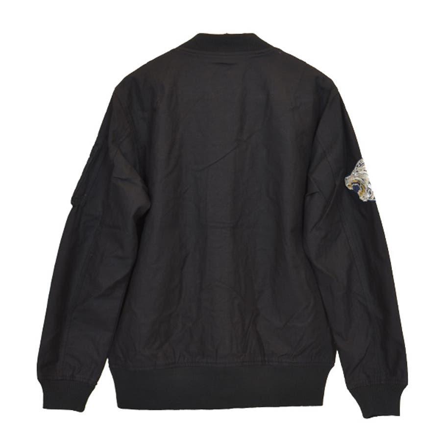ジャケット ブルゾン ミリタリー MA-1 ミリタリージャケット ワッペン付き ツイル アウター メンズ オリーブ ブラック ベージュ秋冬 7