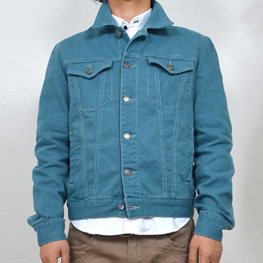 飽きのこないシンプルなデザイン メンズファッション通販デニムジャケット Gジャン ジージャン カラーデニム メンズファッション メンズ 夏 芸域