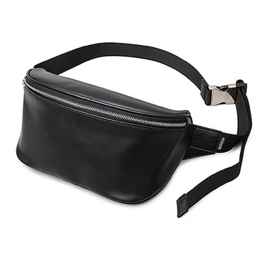 ウエストポーチ ボディバッグ ショルダーバッグ ウエストバッグ ヒップバッグ 合皮 PUレザー 鞄 かばん 小物 メンズ ブラックAブラックB 夏先行 21