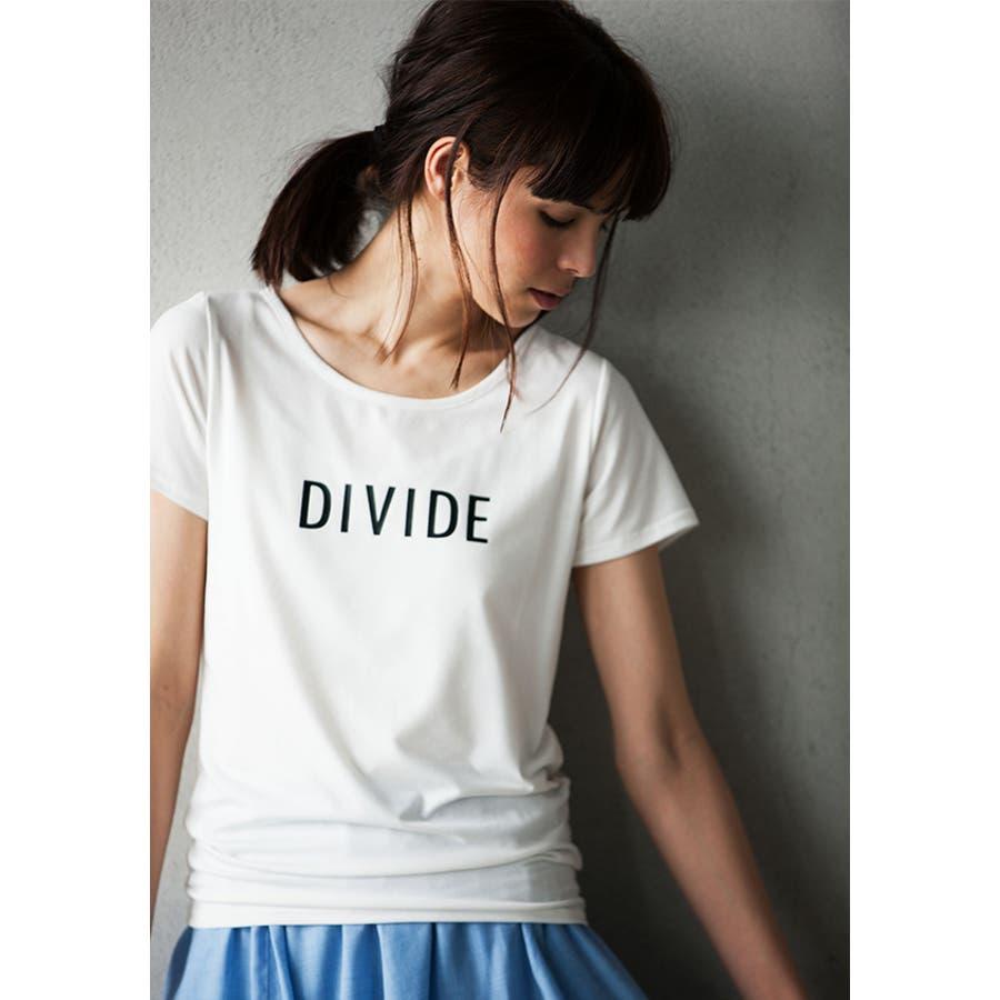 画像まんまで大満足 DIVIDEロゴプリントTシャツ 獄死