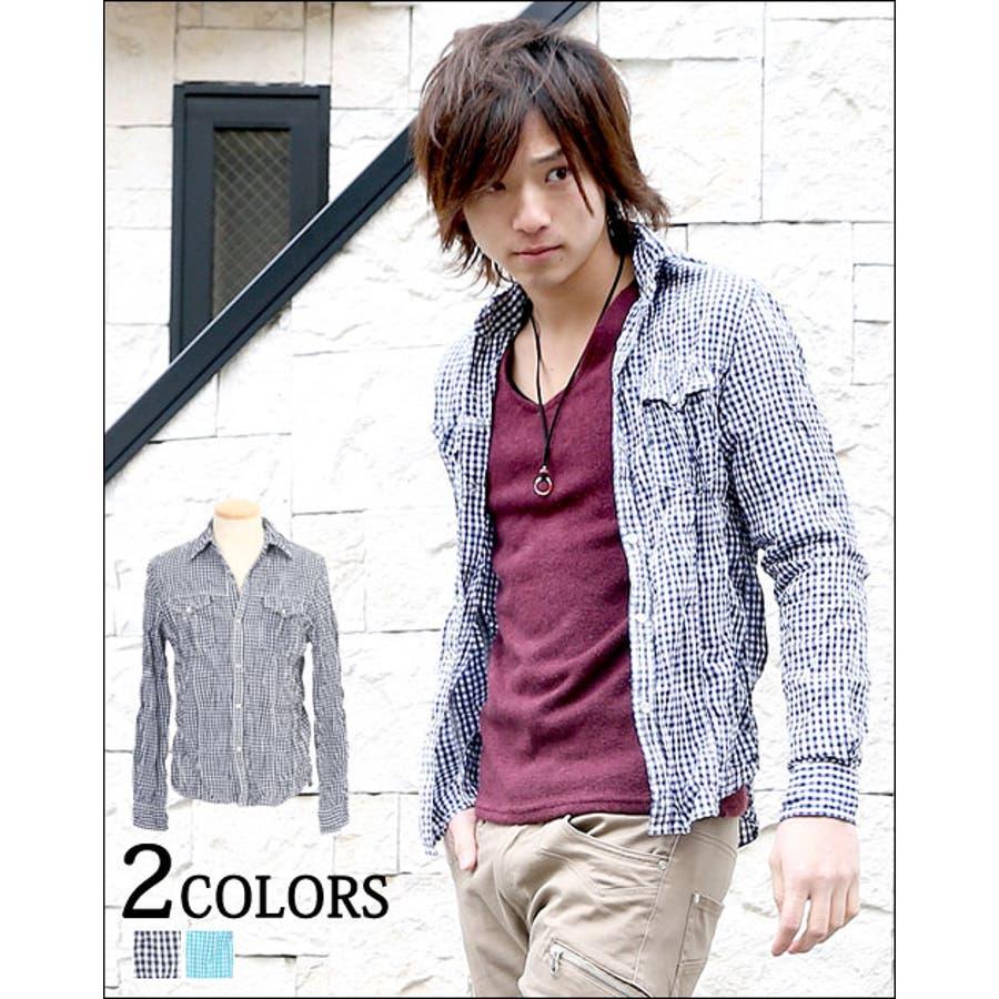 チェックシャツ メンズ ファッション カジュアル お兄系 かっこいい シャツ トップス インナーチェック柄 チェックシャツ カジュアル プレゼント 30代 40代 男親