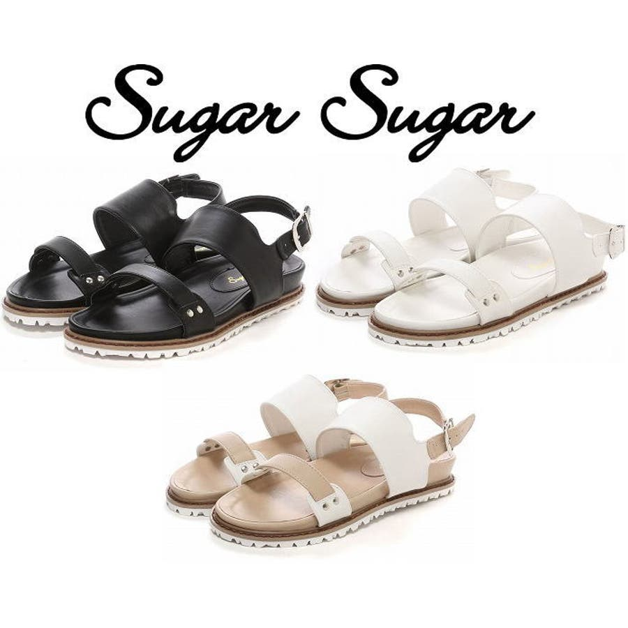 女を上げる シュガー シュガー Sugar Sugar フラットサンダル 豪雄