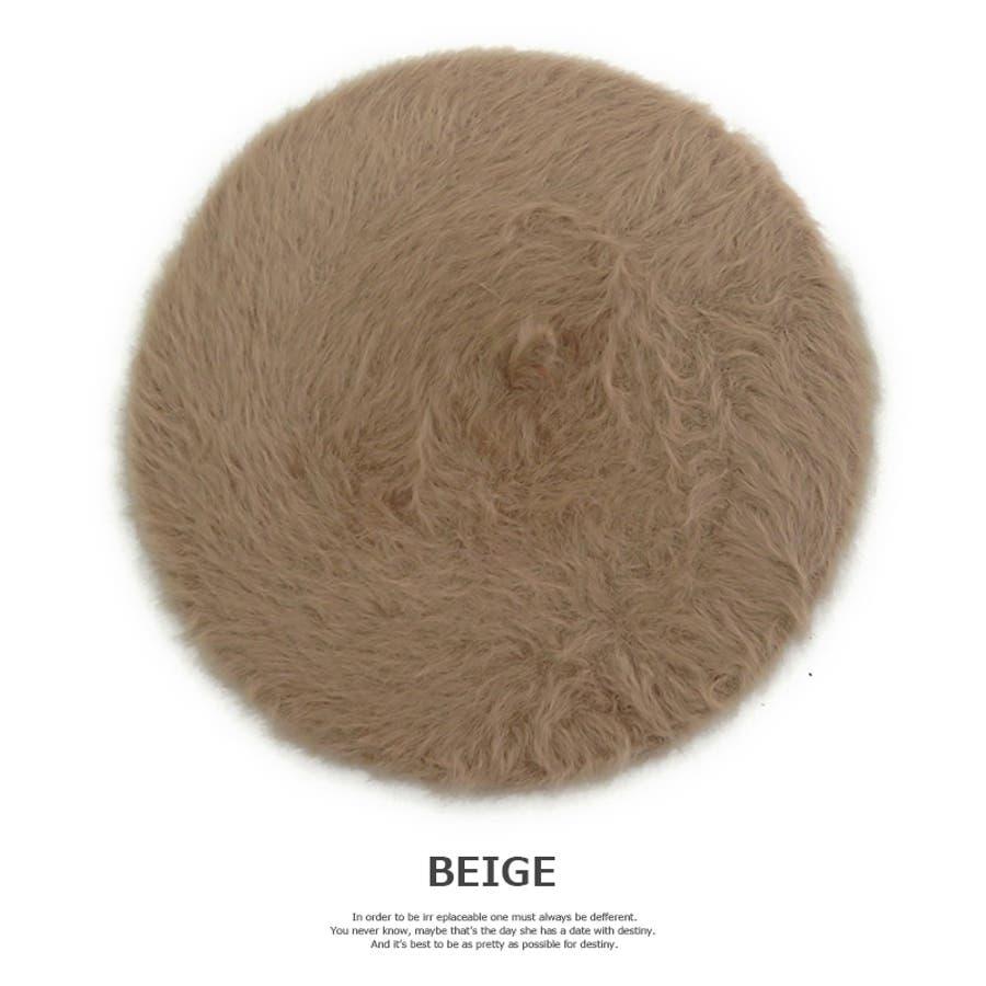 帽子 ECA12-018 アンゴラベレー レディース 秋冬 ベレー帽 シンプル ブラック グレー ベージュ 女性用 カジュアル 可愛いチョボ付き アンゴ 7