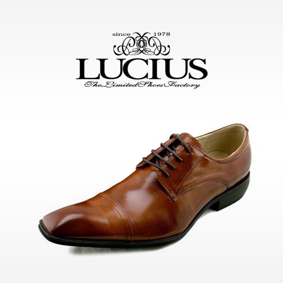 革靴 本革 ビジネスシューズ メンズ ロングノーズ 本革 メンズ ブランド:ブランド LUCIUS[]