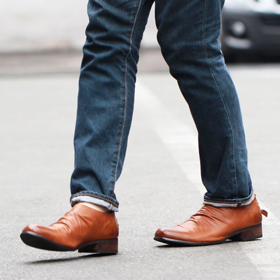 ... 靴 メンズ きれい目 スニーカー
