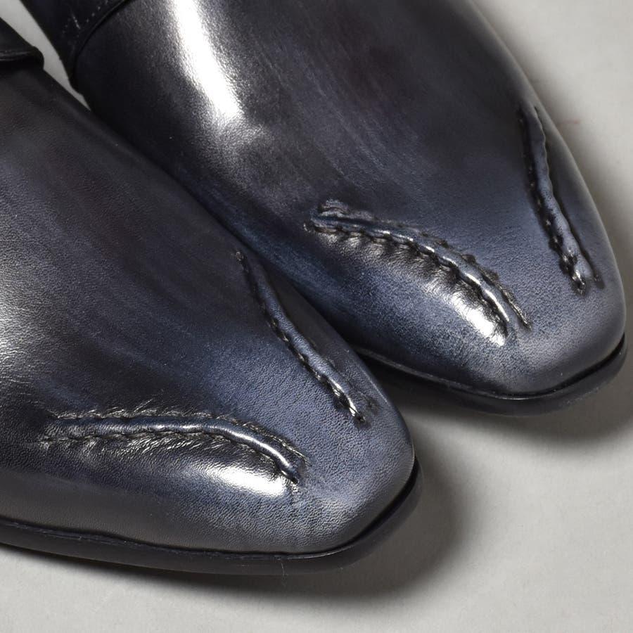 本革 ビジネスシューズ メンズ ロングノーズ ブランド  LUCIUS ルシウス 318,10 ブラック 黒 革靴