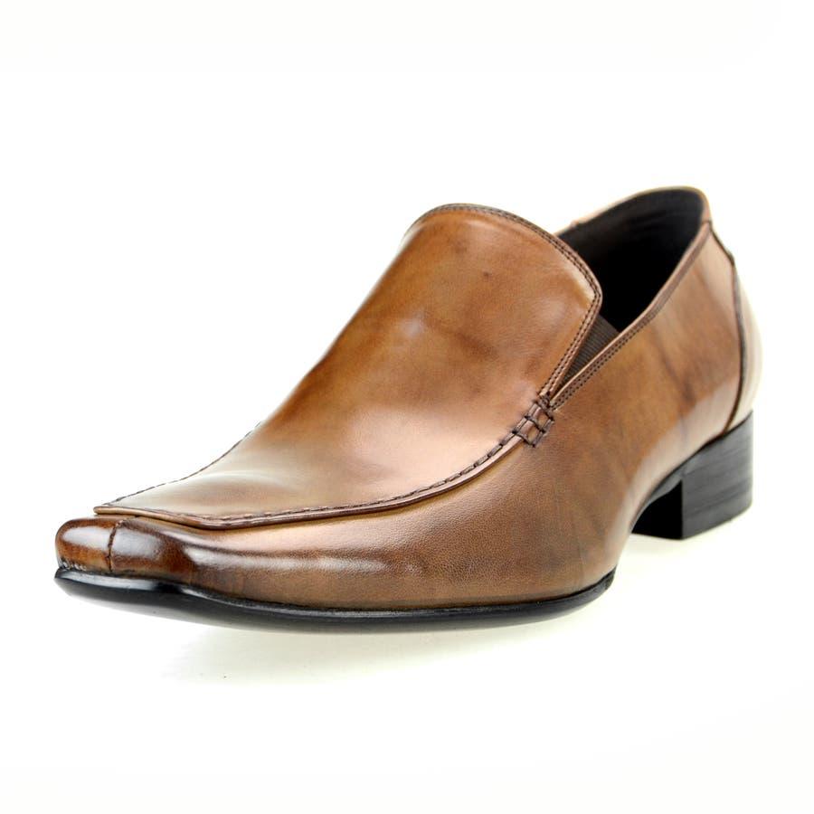 革靴 本革 スリッポン メンズ ビジネスシューズ ドレスシューズ ab128,53 ライトブラウン ブランド LUCIUS
