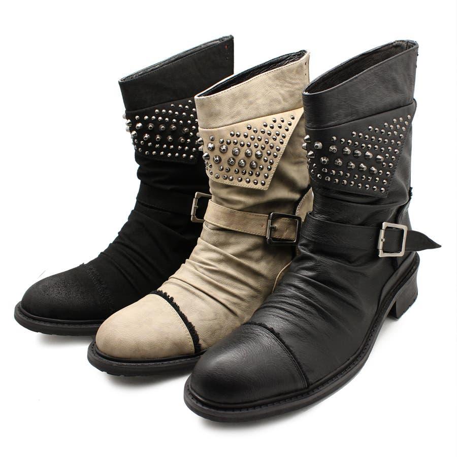 デイリーユースで使える endevice エンデヴァイス エンジニアブーツ メンズ ショートブーツ メンズ ブーツ ベージュ ショート シューズ  スーツシャツ お兄系 靴 シャツ パーカー きれい目 靴 くつ くつ 秋冬 秋 冬 威圧