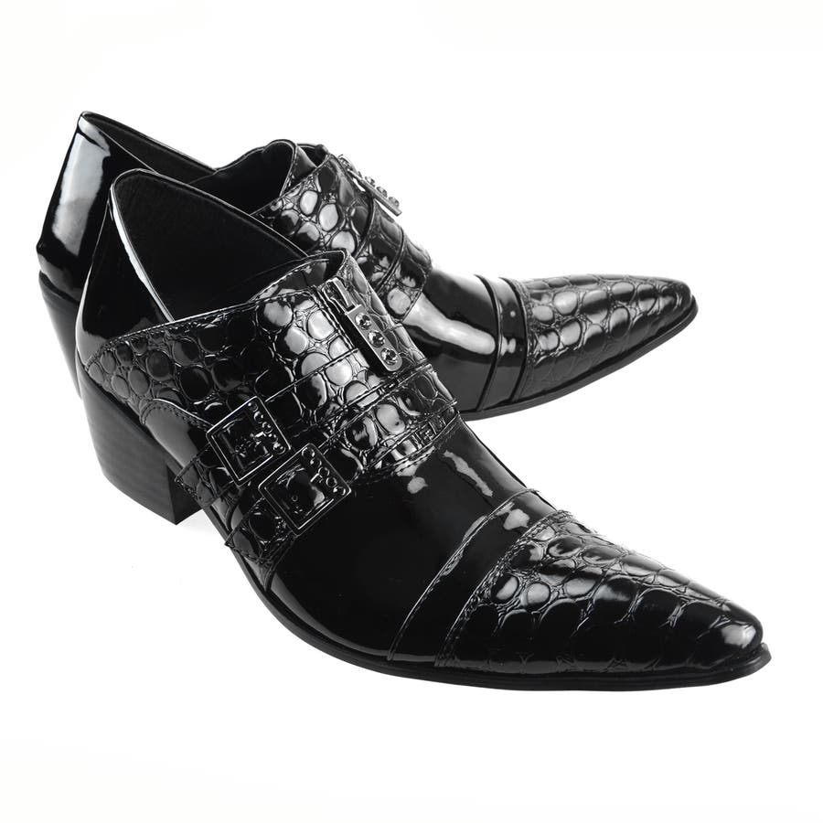ドレスシューズ エナメルシューズ メンズシューズ ポインテッド 靴 くつ endevice エンデバイス