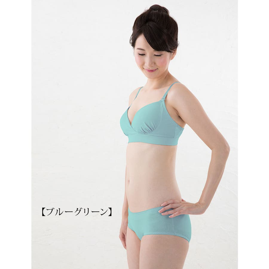 日本製 アウターすっきり やさしくフィット胸きれい!噂の…ママのためのTシャツ授乳ブラ《授乳服/出産準備/授乳用ブラジャー/授乳ブラ/モールドブラ/インナー/下着》 62