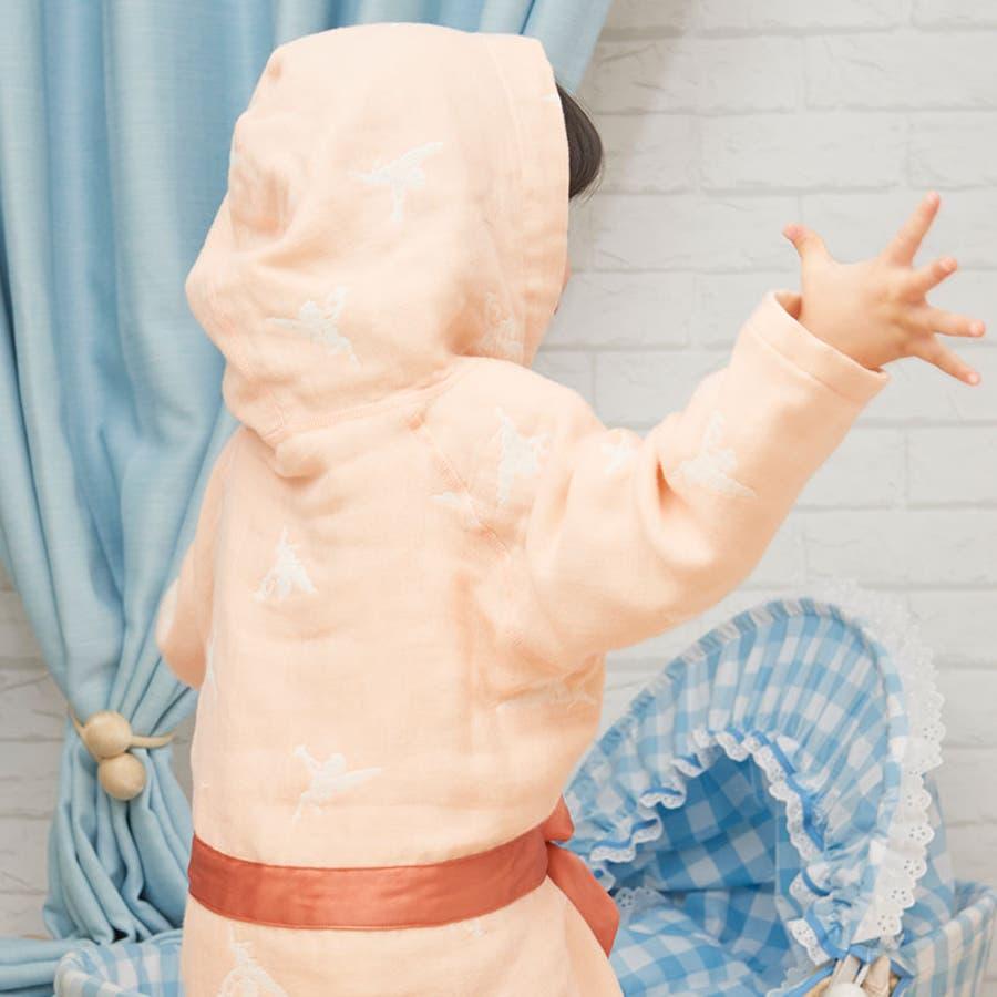 【日本製】ギフトにもぴったり!わたあめガーゼ6重ガーゼフード付きベビーガウン《バスローブ/羽織り/ルームウェア/部屋着/出産準備/出産祝い/ギフト/プレゼント》 8
