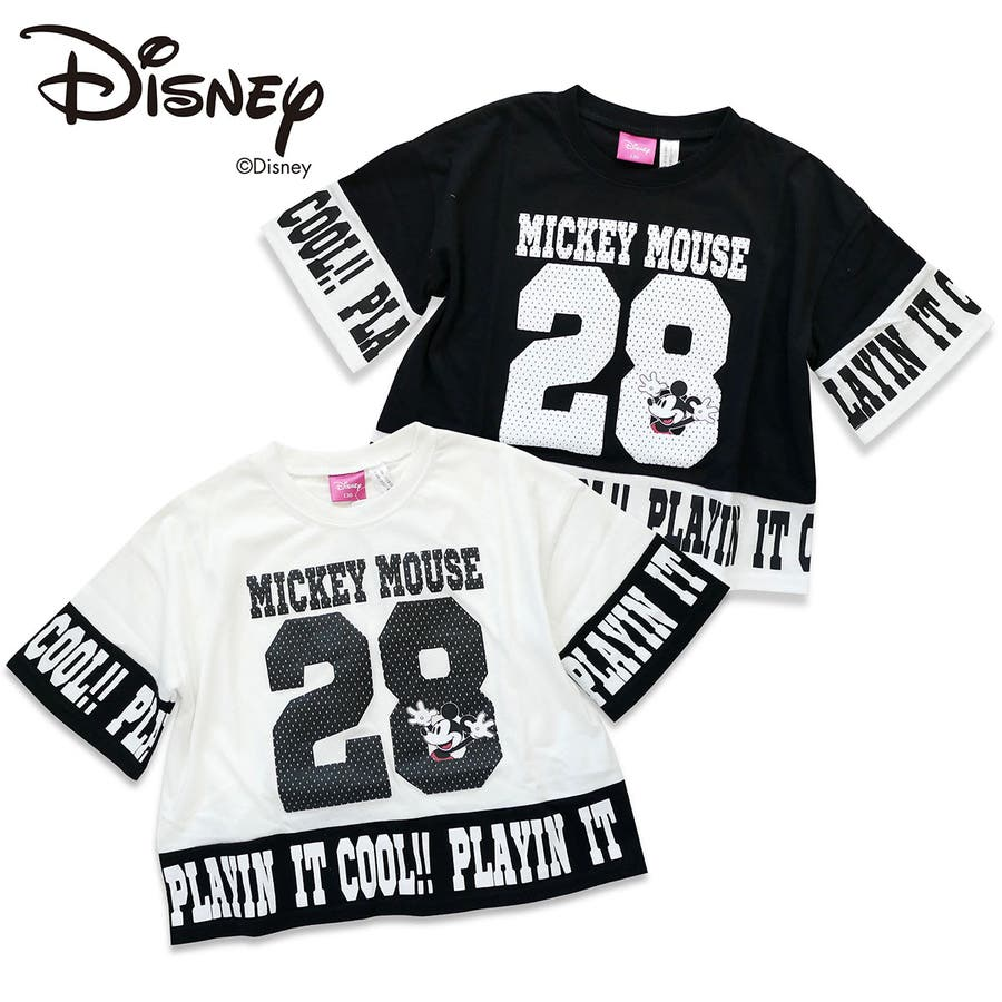 e4dc6260e9e97 Disney ミッキー モノトーンナンバーTシャツ  ディズニー キャラクター ...