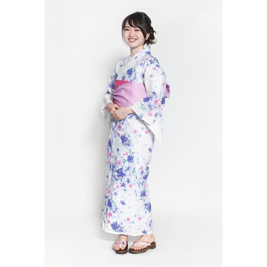 浴衣 レディース 単品 シンプル 花しらべ 2019 20