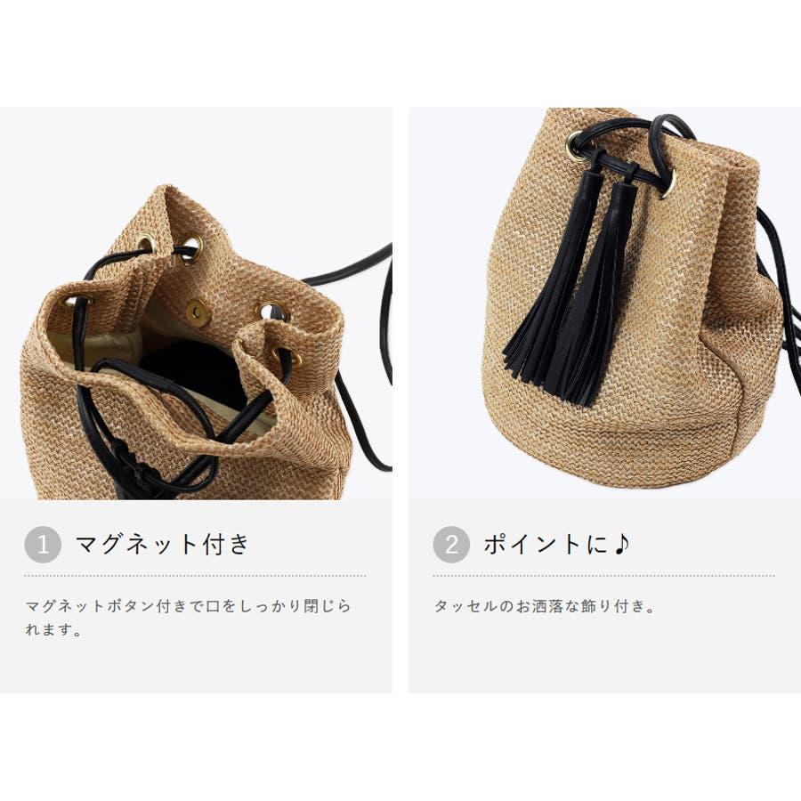 巾着かごバッグ 浴衣 巾着 タッセル付き レディース 5