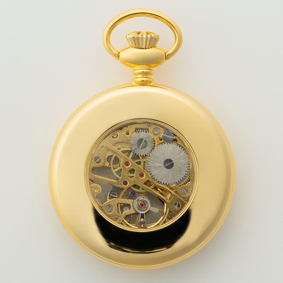機械式懐中時計 手巻き式 蓋なし スケルトン オープンフェイス BENTLEY ベントレー【BT-AP221】 4