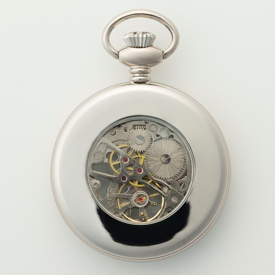 機械式懐中時計 手巻き式 蓋なし スケルトン オープンフェイス BENTLEY ベントレー【BT-AP221】 7