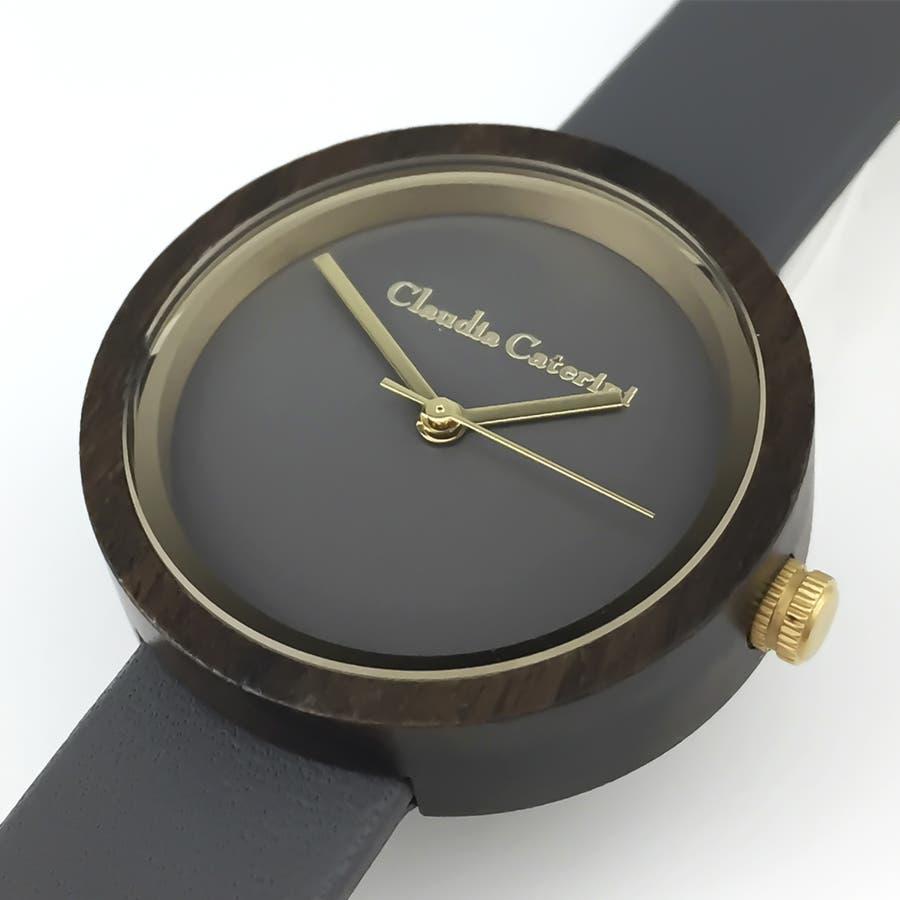 Claudia Caterini クラウディアカテリーニ ウッドウオッチ アナログウオッチ 腕時計 本革 レディース【CC-A116】 4