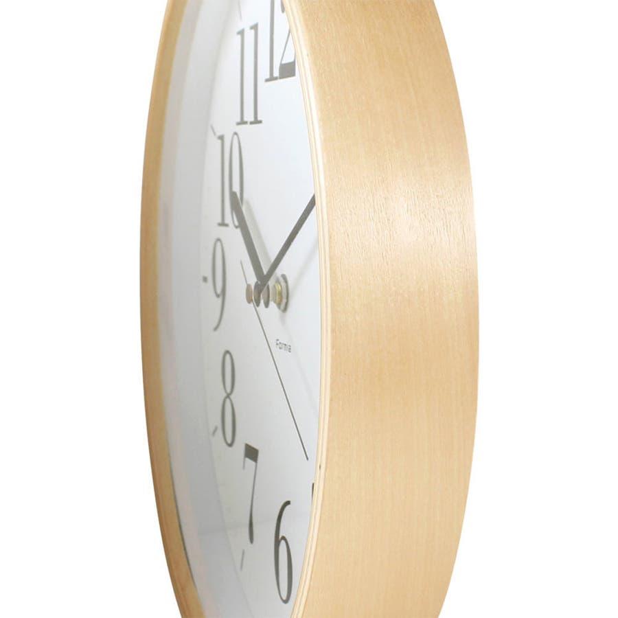 木枠掛け時計 連続秒針 ウッド Formia【HIC-003】 2