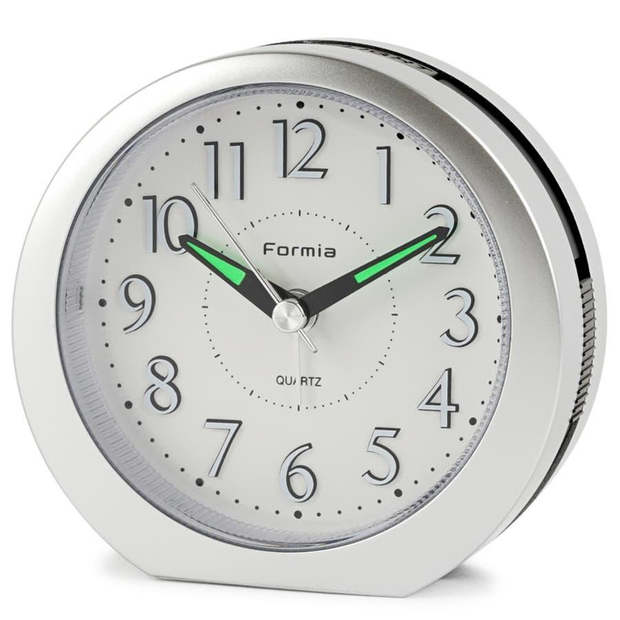 目覚まし時計 シンプル スヌーズ機能 LEDライト Formia【HT-008】 1