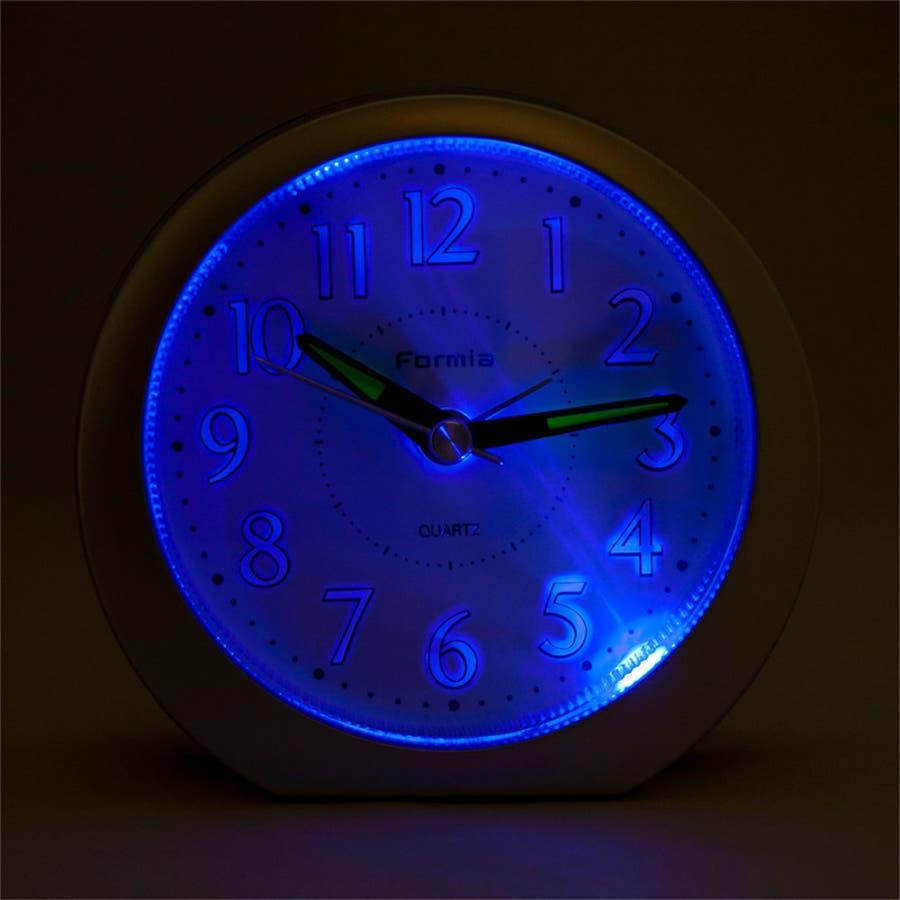 目覚まし時計 シンプル スヌーズ機能 LEDライト Formia【HT-008】 3