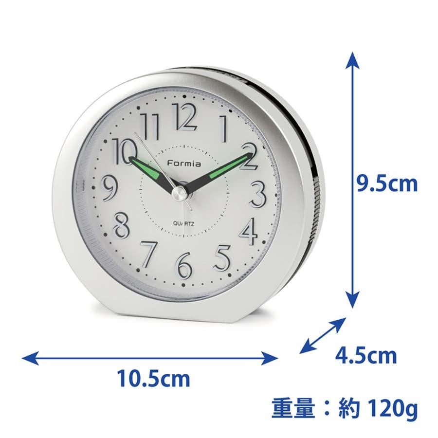 目覚まし時計 シンプル スヌーズ機能 LEDライト Formia【HT-008】 4