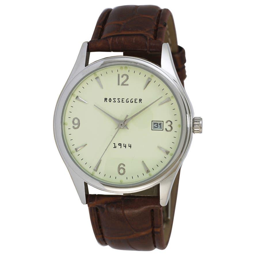 メンズ アナログウオッチ 日付表示 腕時計【ROS-2007】 1