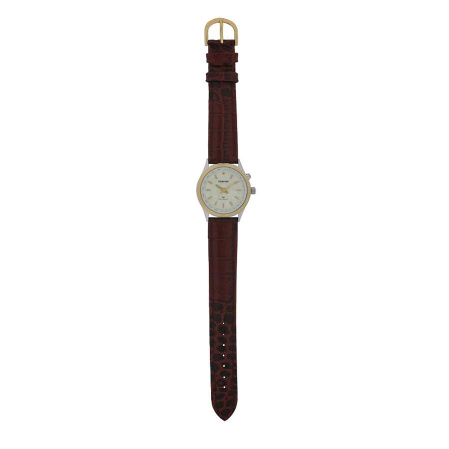 SALVECCHIO アナログ ダイヤモンド付 革ベルト 腕時計 【SAL-1290】 2
