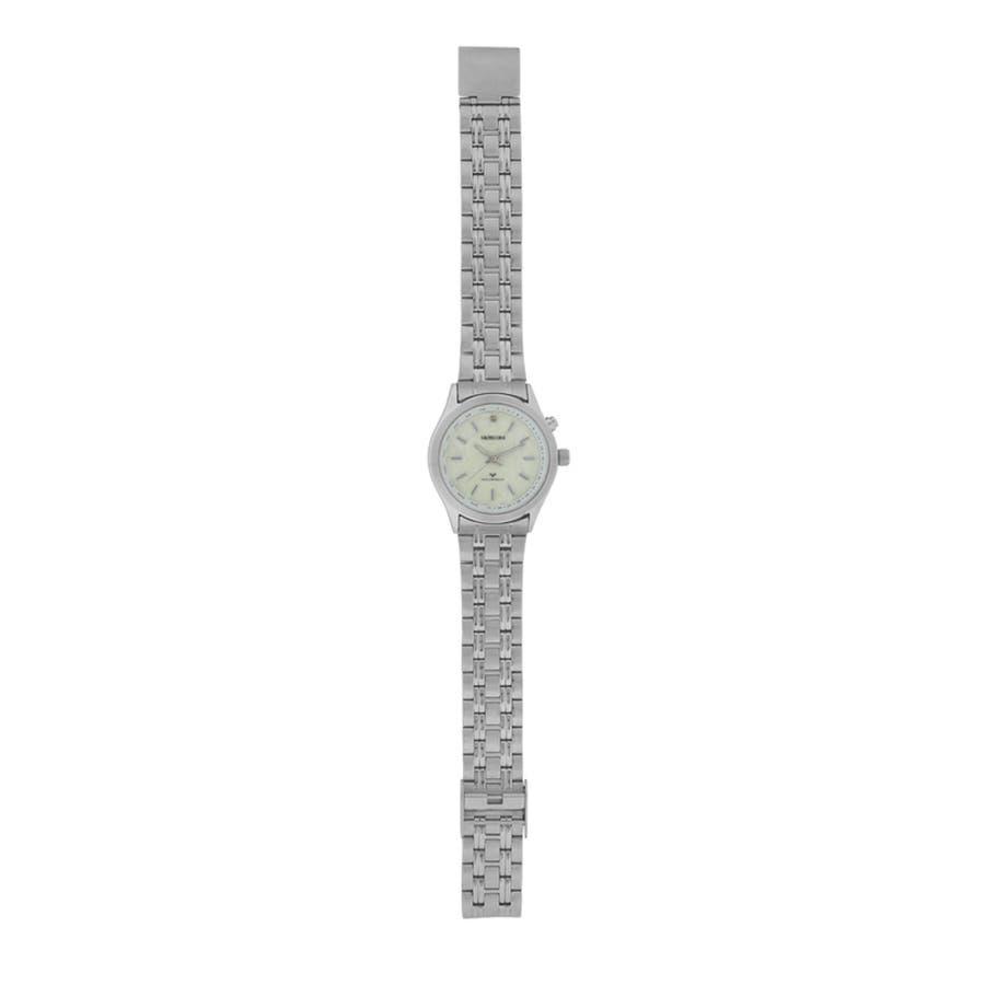 SALVECCHIO アナログ ダイヤモンド付 革ベルト 腕時計 【SAL-1290】 3