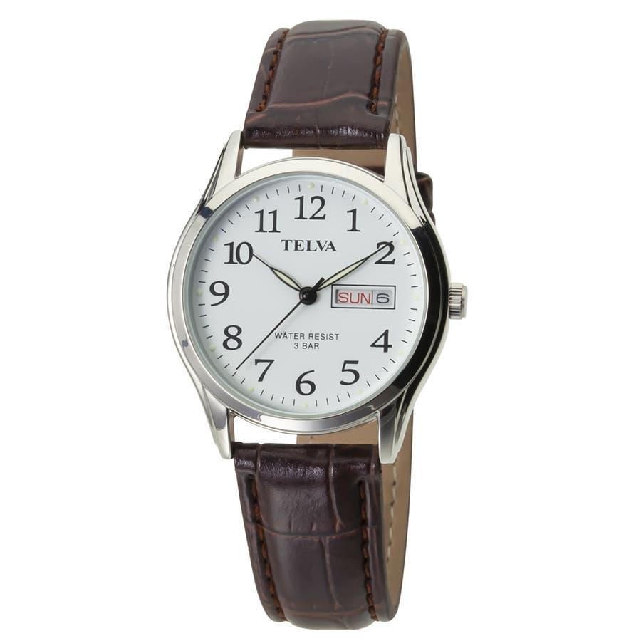 TELVA テルバ アナログウオッチ メンズ 曜日 日付 腕時計【TE-AM177】 1