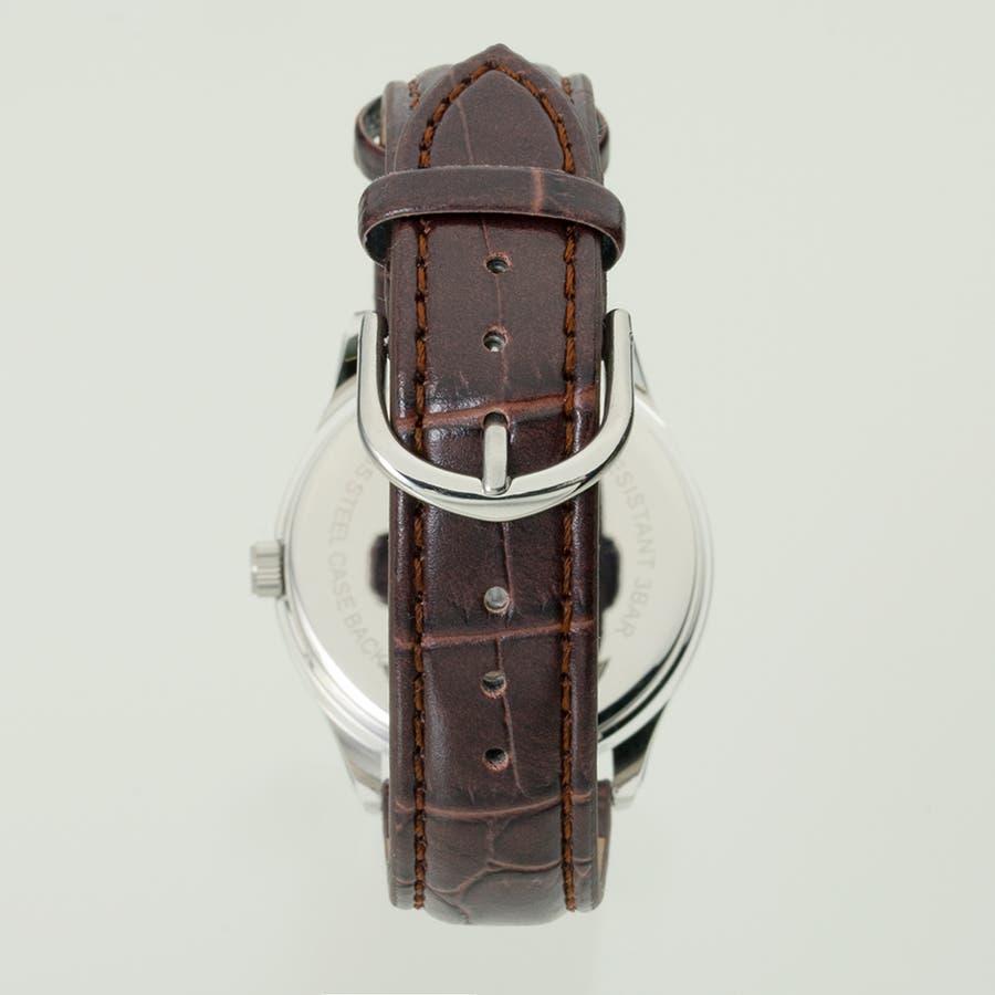 TELVA テルバ アナログウオッチ メンズ 曜日 日付 腕時計【TE-AM177】 2
