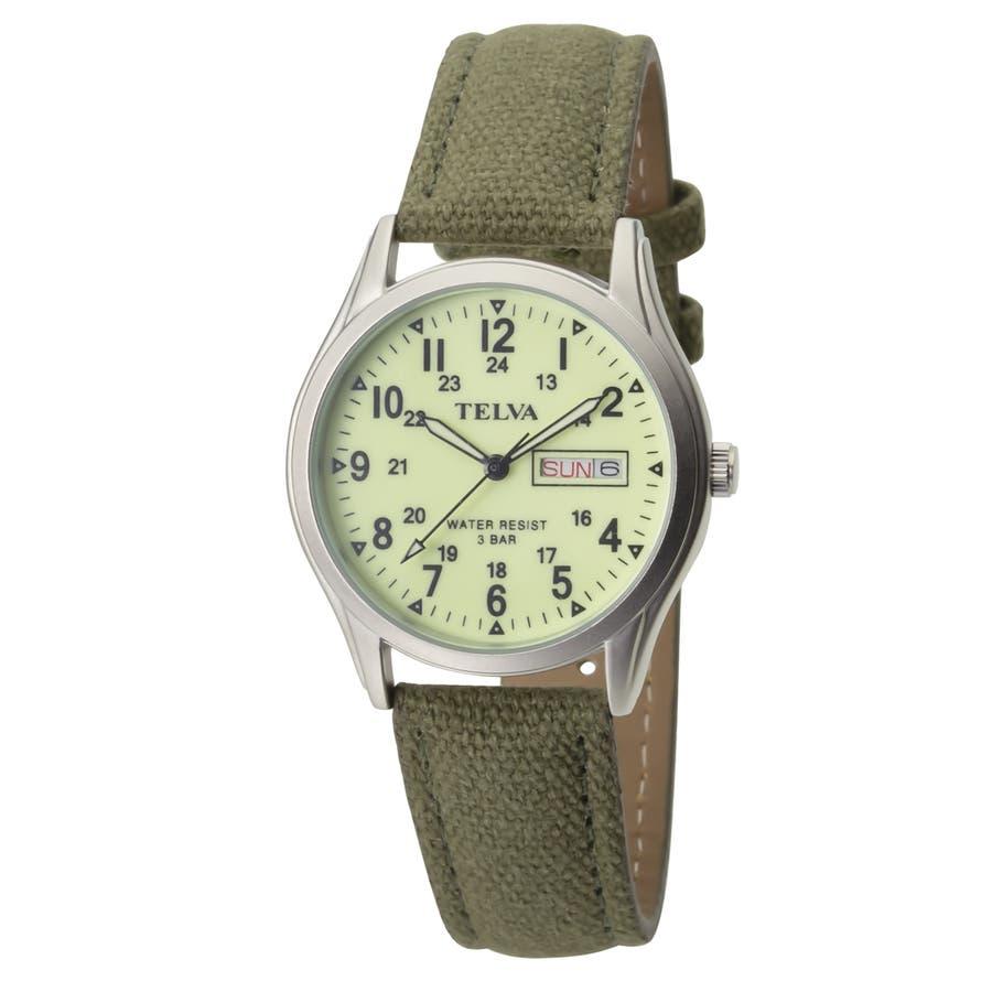 TELVA テルバ アナログウオッチ メンズ 曜日 日付 腕時計【TE-AM180】 1