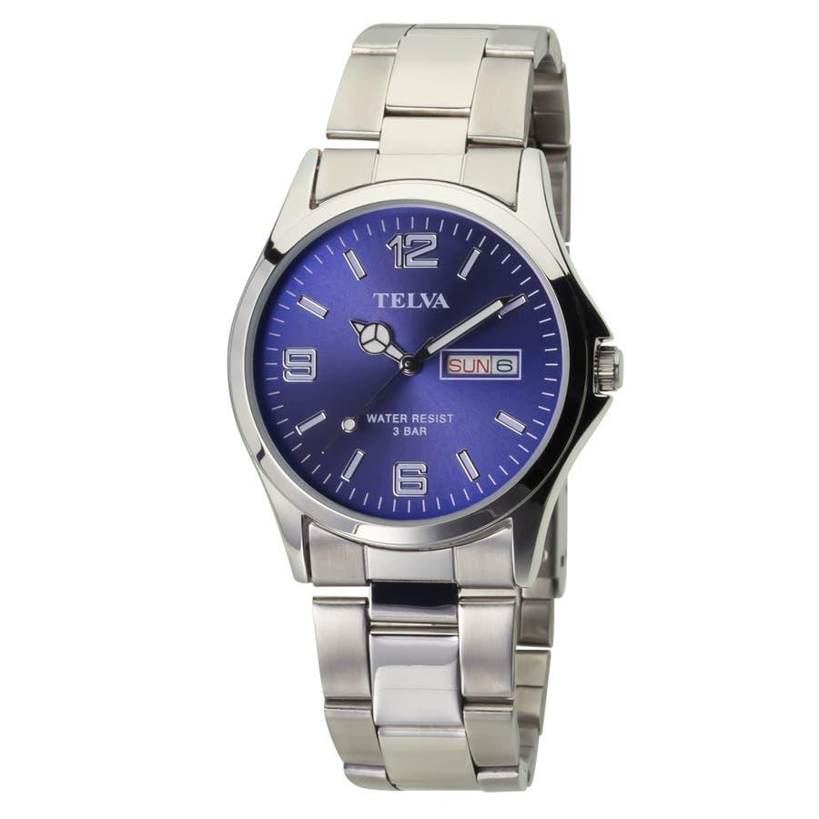 TELVA テルバ アナログウオッチ メンズ 曜日 日付 腕時計【TE-AM181】 1