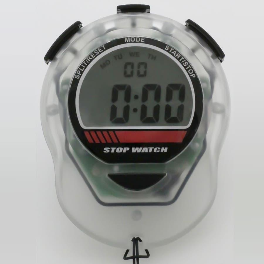 ストップウォッチ ライト付 カウントダウン計測 ウオッチ TELVA テルバ【TEV-4012】 6