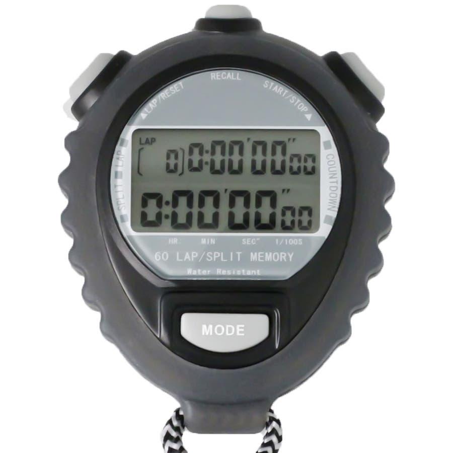 ストップウォッチ 音消し機能 タイム計測 ウオッチ TELVA テルバ【TEV-4026】 21