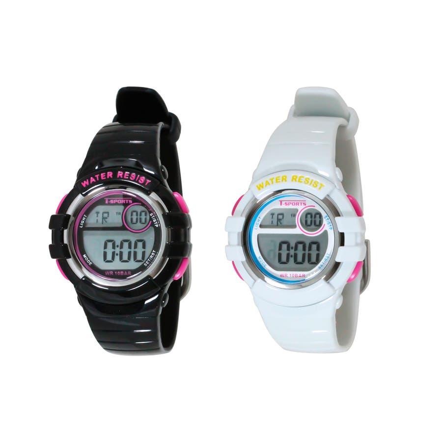 T-SPORTS ティースポーツ デジタルウオッチ 10気圧防水 腕時計【TS-D063】 1