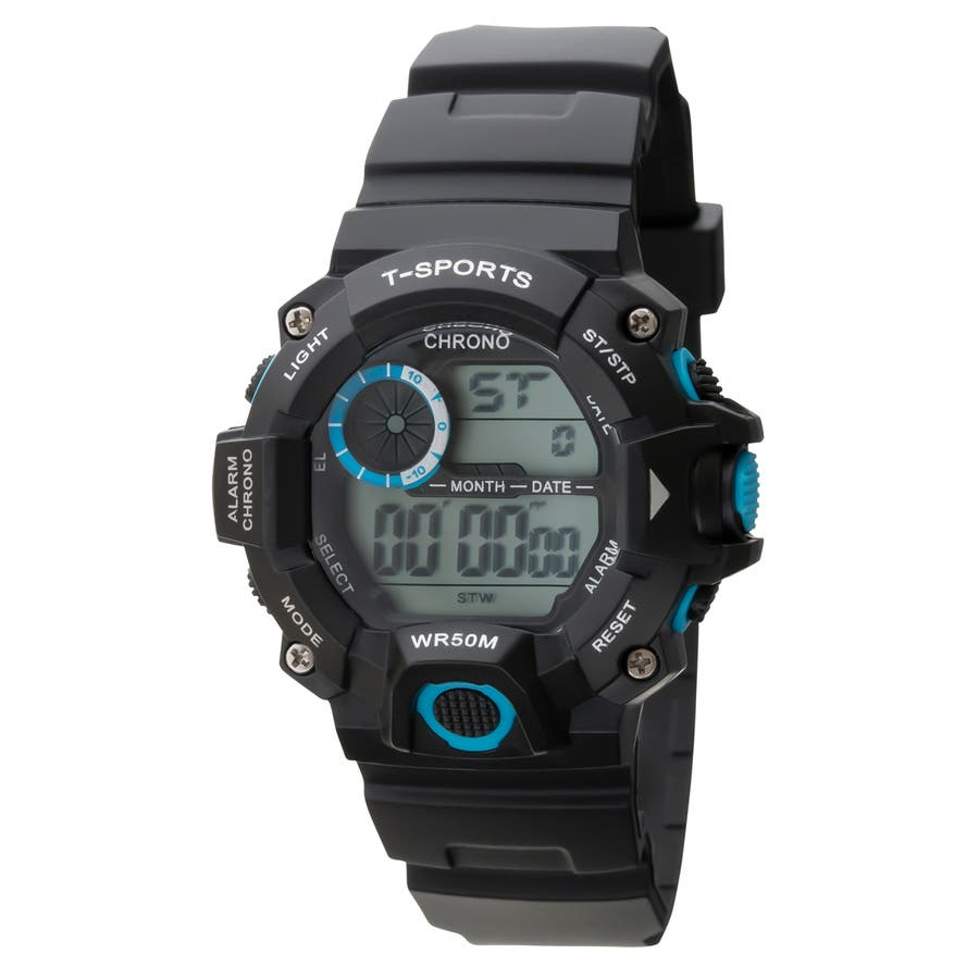 T-SPORTS ティースポーツ デジタルウオッチ 腕時計【TS-D156】 1