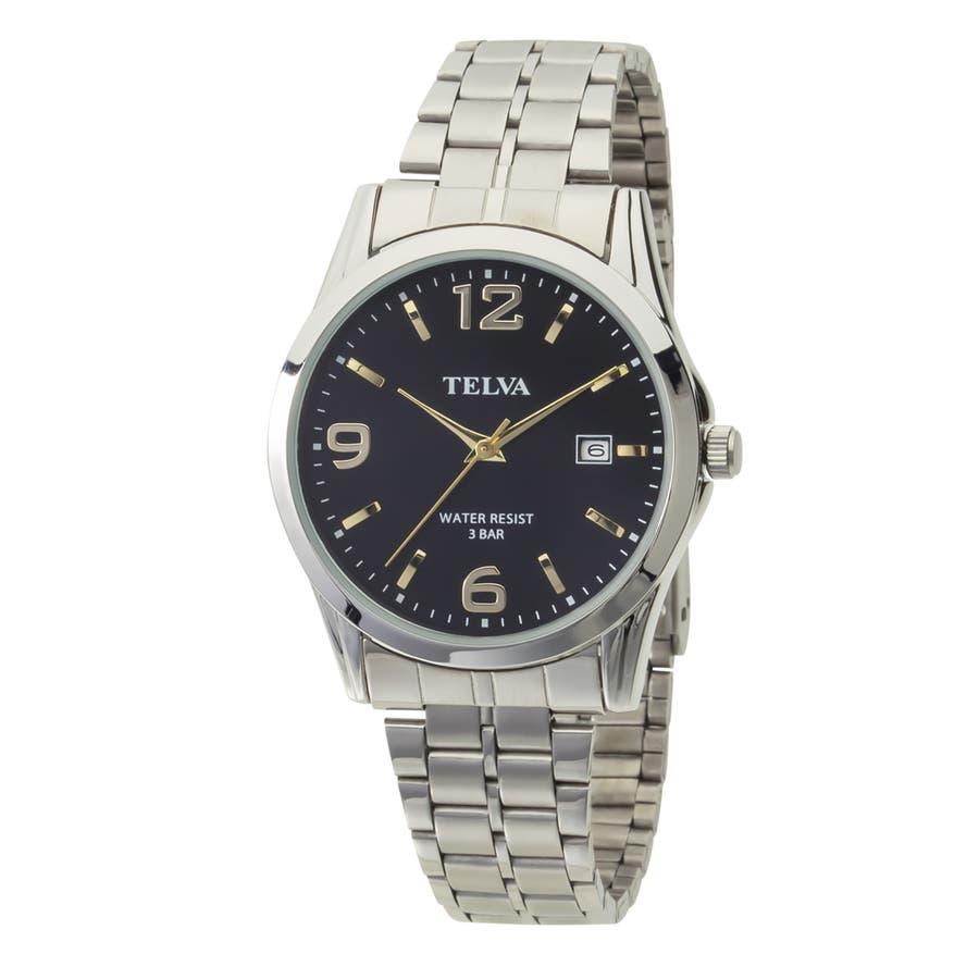 TELVA テルバ アナログウオッチ メンズ 腕時計 薄型針【TE-AM188】 103
