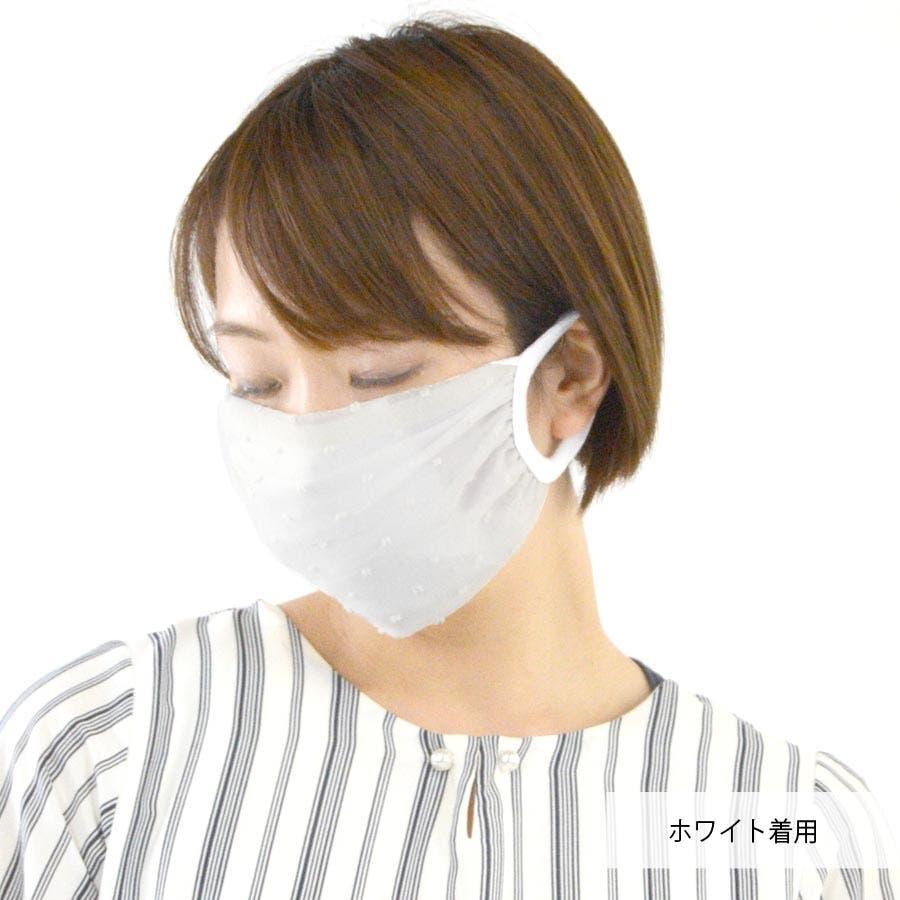 マスク 夏用 夏マスク ドット 刺繍 洗える 夏用マスク 夏マスク シフォン 透け 薄手 涼しい パステル テラコッタ 10